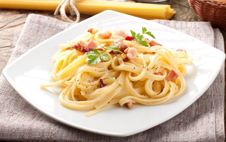 Classic Carbonara with Cooked Ham