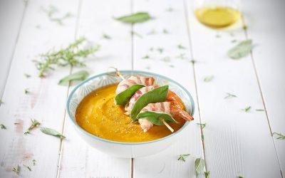 Pumpkin Soup With Pancetta