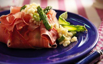 Asparagus Risotto in Prosciutto