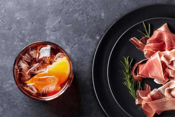 Negroni cocktail and Prosciutto – an authentic Italian combo