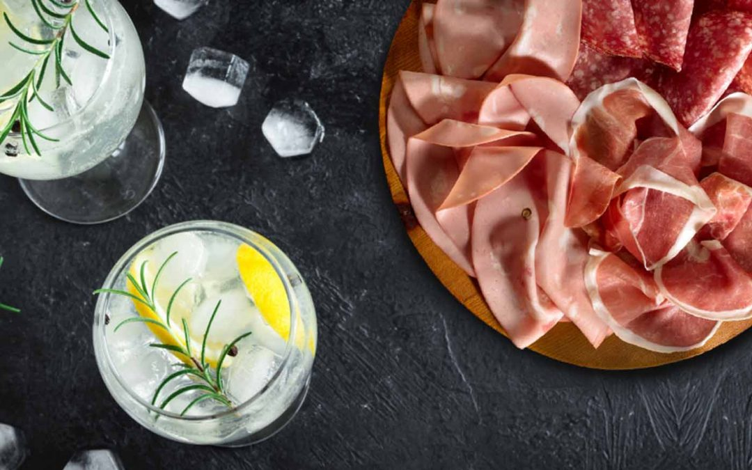 Gin&Tonic with charcuterie