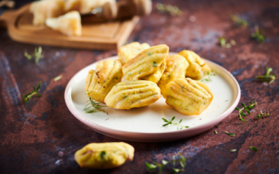 Salami di Parma and herbs madeleines