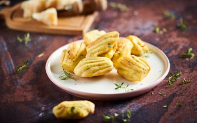Salami di Parma and herbs madeleines