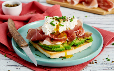 Avocado Toast with Prosciutto and poached egg